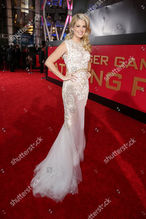 Stephanie Leigh Schlund seen at Lionsgate's 'The Hunger Games: Catching Fire' Los Angeles Premiere, on Monday, Nov, 18, 2013 in Los Angeles