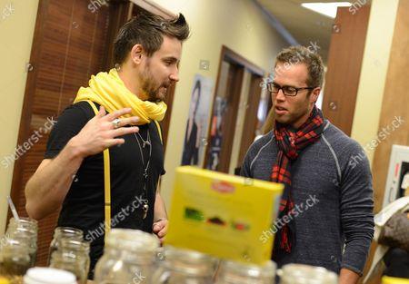 TV personality Matt Nordgren takes a tea-break at the Lipton Uplift Lounge amidst the hustle and bustle of Sundance, in Park City, UT