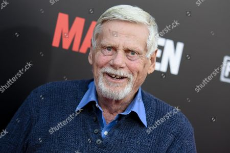 """Robert Morse arrives at the Live Read And Series Finale Of """"Mad Men"""" held at The Theatre at Ace Hotel, in Los Angeles"""