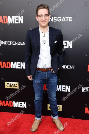 "Stock Photo of Trevor Einhorn arrives at the Live Read And Series Finale Of ""Mad Men"" held at The Theatre at Ace Hotel, in Los Angeles"