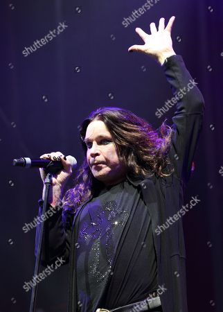 Ozzy Osborne of Black Sabbath performs at the Lollapalooza music festival on opening day in Chicago's Grant Park on