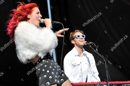 Lizzy Plapinger and Max Hershenow of MS MR performs at Lollapalooza at Grant Park, in Chicago, Illinois