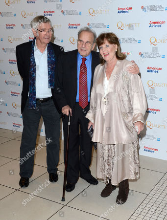 Tom Courtenay, Ronald Harwood, Pauline Collins poses at London Film Festival American Airlines Gala -Quartet at Odeon West End on in London