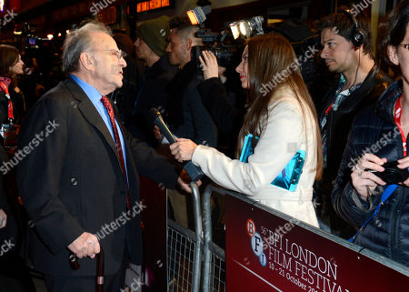 Ronald Harwood poses at London Film Festival American Airlines Gala -Quartet at Odeon West End on in London