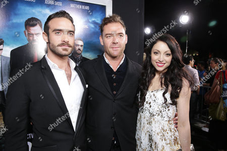 Joshua Sasse, Marton Csokas and Leah Gibson at the Los Angeles Premiere of DirecTV original series ROGUE, on Tuesday, March, 26, 2013 in Los Angeles held at Arclight Hollywood