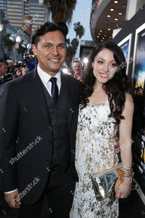 Adam Beach and Leah Gibson at the Los Angeles Premiere of DirecTV original series ROGUE, on Tuesday, March, 26, 2013 in Los Angeles held at Arclight Hollywood