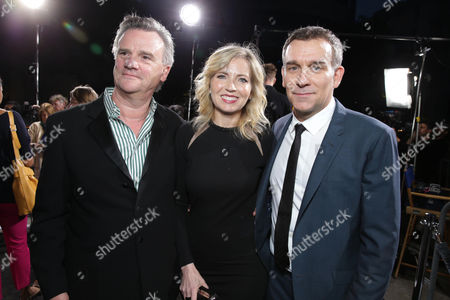 Stock Image of Producer Nick Hamm, Vice President and General Manager of Audience Network Patty Ishimoto and Producer Matthew Parkhill at the Los Angeles Premiere of DirecTV original series ROGUE, on Tuesday, March, 26, 2013 in Los Angeles held at Arclight Hollywood