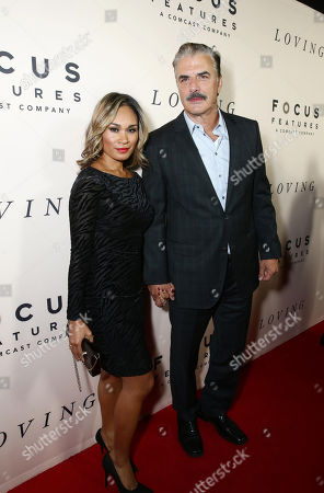 Stock Image of Tara Wilson and Chris Noth seen at the Los Angeles Premiere of Focus Features' LOVING at the Samuel Goldwyn Theater, in Beverly Hills, Calif