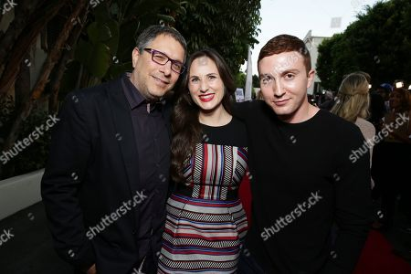 """Stock Picture of Director Ira Ungerleider, Exec. Producer Natalia Anderson and Daryl Sabara seen at the Los Angeles premiere of Hulu and Paramount Digital Entertainment's """"Resident Advisors"""" at Paramount Studios, in Hollywood, CA"""