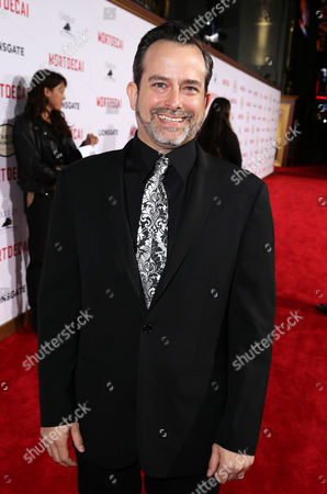 """Composer Geoff Zanelli seen at the Los Angeles Premiere of Lionsgate's """"Mortdecai"""" on Wed, in Hollywood"""