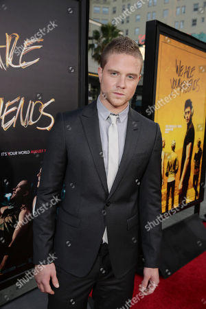 Jonny Weston seen at Los Angeles Premiere of Warner Bros. â?˜We Are Your Friendsâ?™ at TCL Chinese Theatre, in Hollywood, CA