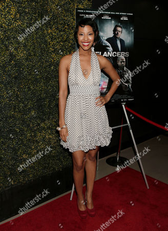 """Tracey Heggins attends the Los Angeles Screening of """"Freelancers"""" at the Chinese Mann 6, in Los Angeles, Ca"""