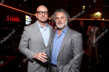 """Stock Photo of Steven Soderbergh and Producer Nick Wechsler seen at the Los Angeles World Premiere of Warner Bros. Pictures' """"Magic Mike XXL"""", in Los Angeles"""