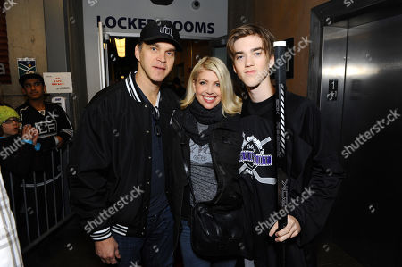 From left, Luc Robitaille, Stacia Robitaille and Jessarae attend Luc Robitaille's Celebrity Shoot Out benefitting Echoes of Hope, on in Park City, Utah