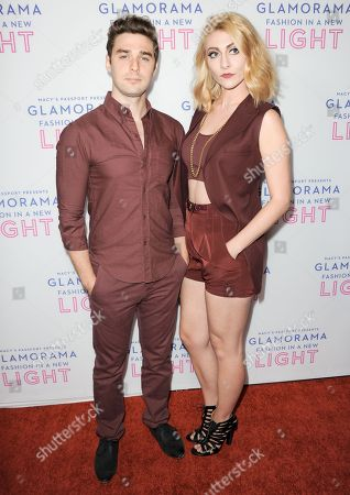 Nick Noonan, left, and Amy Heidemann arrive at the Macy's Passport's Glamorama at The Orpheum Theatre on in Los Angeles