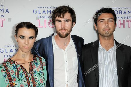 Stock Picture of From left, Naomi deLuce Wilding, Tarquin Wilding, Caleb Wilding arrive at the Macy's Passport's Glamorama at The Orpheum Theatre on in Los Angeles