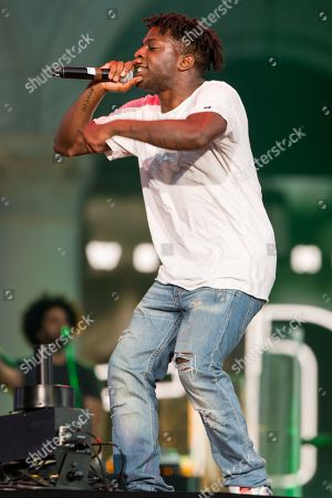 Isaiah Rashad performs on stage during the Made In America Festival at Grand Park, in Los Angeles, Calif
