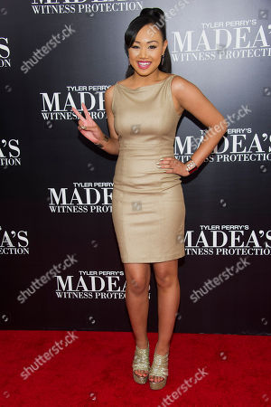 "Cymphonique Miller attends the premiere of ""Tyler Perry's Madea's Witness Protection"" on in New York"