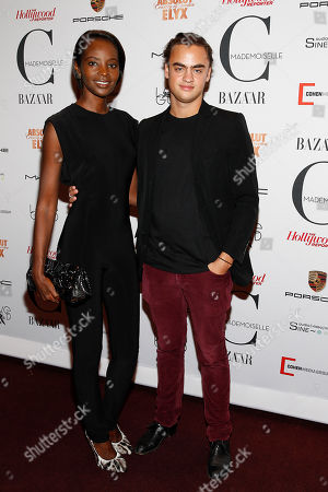 Kiara Kabukuru and Michael Avedon attend the New York premiere of Mademoiselle C presented by Cohen Media and sponsored by Absolute Elyx, LoveGold, and The Hollywood Reporter at the Florence Gould Hall on in New York