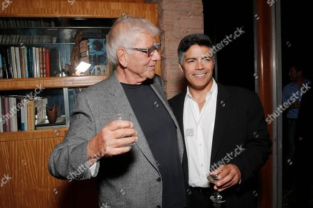 """Alex Rocco, left, and Esai Morales attend the """"Magic City"""" season 2 premiere after party, in Los Angeles"""