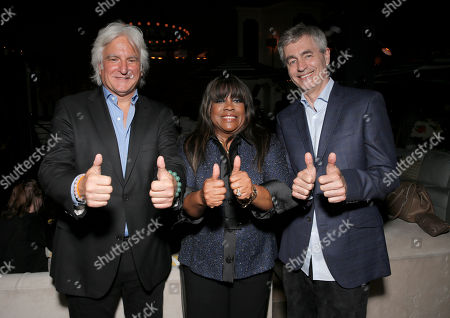 """Executive Producer Mark Mitten, Chaz Ebert and Steve James attend Magnolia Pictures' Los Angeles Premiere of """"Life Itself"""" at the Warwick on in Hollywood, California"""