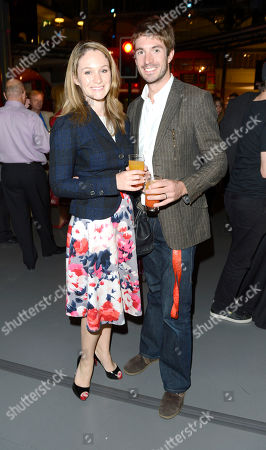 Stock Photo of Olympic silver medallist Zac Purchase with guest attends the after party following the 'BBC Children in Need' gala performance of 'Mamma Mia' on in London, UK