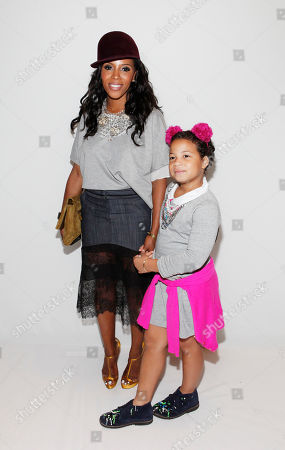 June Ambrose and Summer Chamblin attend the BCBG spring 2014 show, during Mercedes-Benz Fashion Week in New York