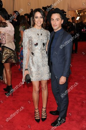 """Aubrey Plaza and Eddie Borgo attend The Metropolitan Museum of Art Costume Institute gala benefit, """"Punk: Chaos to Couture"""", on in New York"""