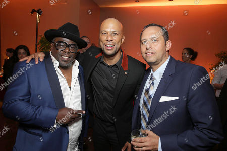 "Exclusive - Cedric the Entertainer, Common and Producer Robert Teitel seen at Metro Goldwyn Mayer and New Line Cinema Premiere of ""Barbershop: The Next Cut"" at TCL Chinese Theatre, in Hollywood"