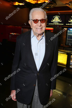 PREMIUM RATES APPLY Walter Mirisch kicks off MGM's 90th Anniversary with the company's iconic mascot Leo the Lion's Paw Print ceremony at the TCL Chinese Theater in Hollywood on