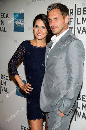 """Josh Lucas, right, and Jessica Henriquez attend the premiere of """"Mistaken For Strangers"""" during the opening night of the 2013 Tribeca Film Festival on in New York"""