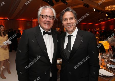 Stock Photo of Chairman and CEO, Moet Hennessy Christophe Navarre and U.S. Deputy Secretary of State Antony Blinken are seen at the Moet Hennessy Celebration of the Hermione Voyage 2015 at George Washington's Mount Vernon, in Mount Vernon, Va