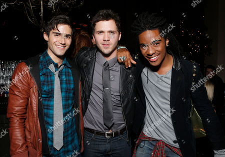 Max Ehrich, Stephen Lunsford and Ruba Wilson attend a surprise birthday party for MTV Teen Wolf's Stephen Lunsford presented by Monster Energy Drinks on in Los Angeles, CA