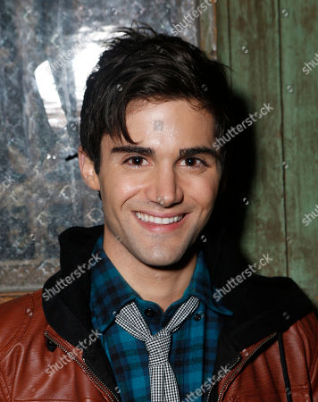 Max Ehrich attends a surprise birthday party for MTV Teen Wolf's Stephen Lunsford presented by Monster Energy Drinks on in Los Angeles, CA