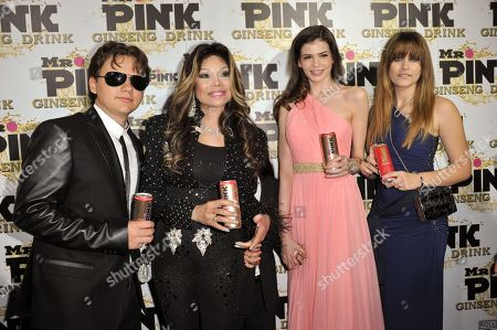 Stock Image of From left, Prince Michael Jackson, LaToya Jackson, Blanket Jackson, Monica Gabor and Paris Jackson attend the Mr. Pink Ginseng launch party at the Beverly Wilshire hotel, in Beverly Hills, Calif