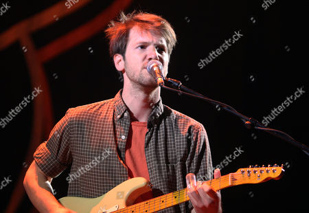 Stock Image of Blake Mills performs as the opener for Mumford & Sons at the Infinite Energy Arena, in Atlanta