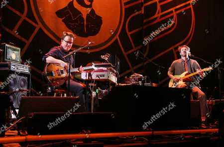 Stock Picture of Blake Mills performs as the opener for Mumford & Sons at the Infinite Energy Arena, in Atlanta