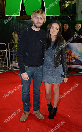 James Buckley, Clair Meek attend the Muppets Most Wanted - VIP film screening at the Curzon Mayfair in London on Monday, March. 24th, 2014