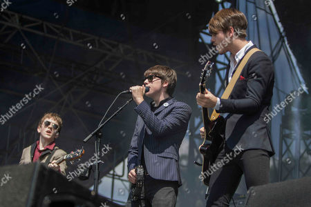 Josh McClorey, Ross Farrelly and Pete O'Hanlon as The Strypes performs during Music Midtown 2014 at Piedmont Park, in Atlanta