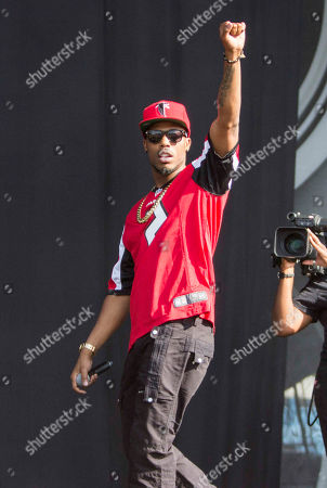 Stock Photo of Bobby Ray Simmons Jr. as B.o.B performs during Music Midtown 2014 at Piedmont Park, in Atlanta