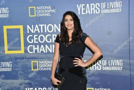 """Actress Cecily Strong attends the premiere of National Geographic Channel's, """"Years of Living Dangerously,""""at the American Museum of Natural History, in New York"""