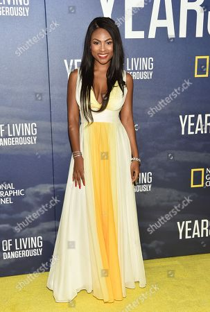 """Tashiana Washington attends the premiere of National Geographic Channel's, """"Years of Living Dangerously"""", at the American Museum of Natural History, in New York"""