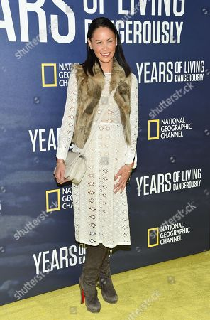 """Television personality Jules Wainstein attends the premiere of National Geographic Channel's, """"Years of Living Dangerously"""", at the American Museum of Natural History, in New York"""