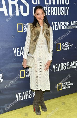 """Stock Picture of Television personality Jules Wainstein attends the premiere of National Geographic Channel's, """"Years of Living Dangerously"""", at the American Museum of Natural History, in New York"""