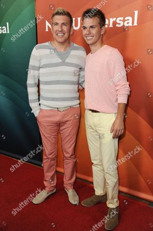 Todd Chrisley, left, and Chase Chrisley attends the NBC 2014 Summer TCA held at the Beverly Hilton Hotel, in Beverly Hills, Calif
