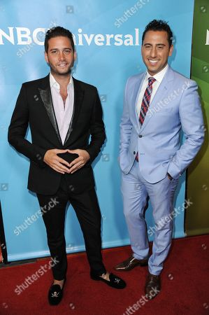 Josh Flagg, left, and Josh Altman attend the NBC 2014 Summer TCA held at the Beverly Hilton Hotel, in Beverly Hills, Calif
