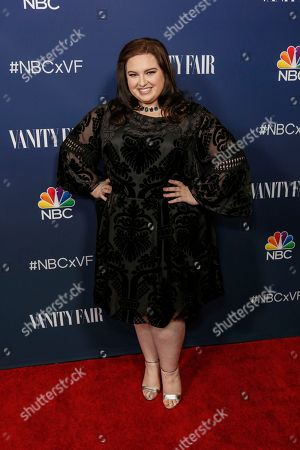 Maddie Baillio arrives at the NBC and Vanity Fair Toast to the 2016 - 2017 TV Season, in Los Angeles