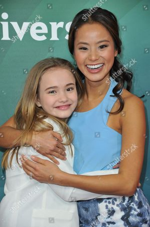 Stock Image of Johnny Sequoyah, left, and Jamie Chung seen at the NBC/Universal Winter 2014 TCA on in Pasadena, Calif