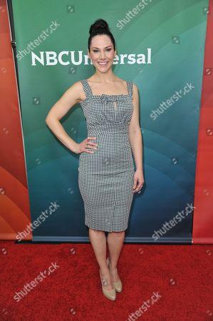 Kyra Zagorsky seen at the NBC/Universal Winter 2014 TCA on in Pasadena, Calif