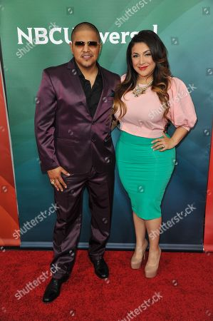 Fernando Vargas, left, and Martha Vargas seen at the NBC/Universal Winter 2014 TCA on in Pasadena, Calif